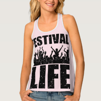 New FESTIVAL LIFE (blk) Tank Top