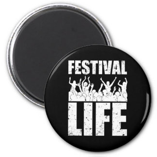 New FESTIVAL LIFE (wht) 2 Inch Round Magnet