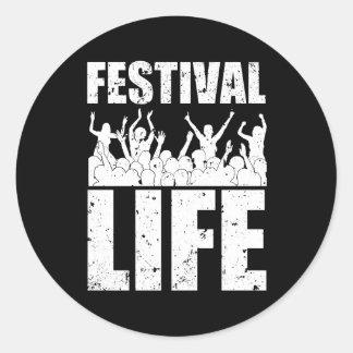 New FESTIVAL LIFE (wht) Classic Round Sticker