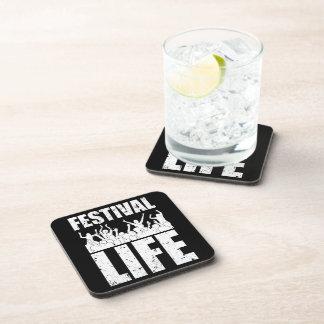 New FESTIVAL LIFE (wht) Coaster