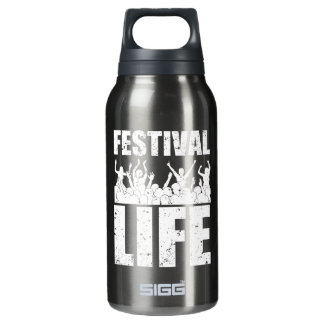 New FESTIVAL LIFE (wht) Insulated Water Bottle