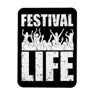 New FESTIVAL LIFE (wht) Rectangular Photo Magnet