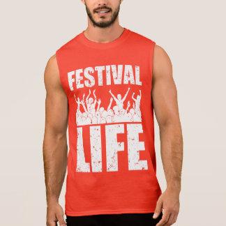 New FESTIVAL LIFE (wht) Sleeveless Shirt
