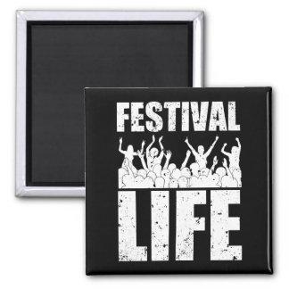 New FESTIVAL LIFE (wht) Square Magnet