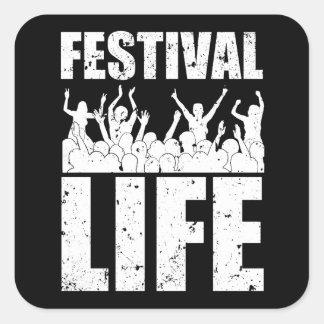 New FESTIVAL LIFE (wht) Square Sticker