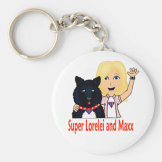 New Fictional Heroes Super Lorelei and Maxx Basic Round Button Keychain