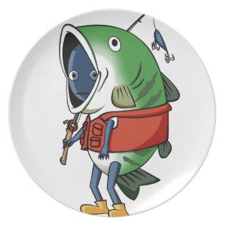 New fisherman English story Kinugawa Tochigi Plate