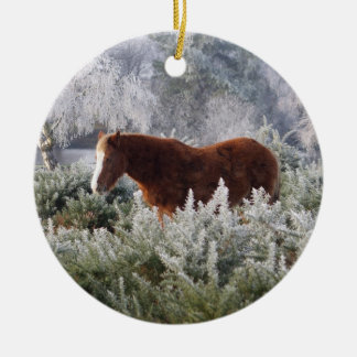 New Forest ponies ornament