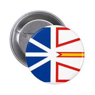 NEW FOUNDLAND Flag 2 Inch Round Button
