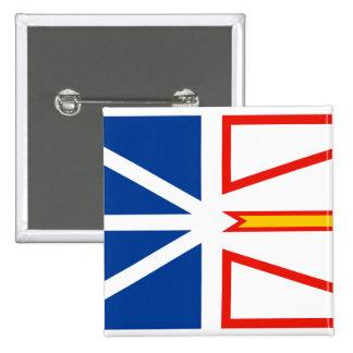 NEW FOUNDLAND Flag 2 Inch Square Button