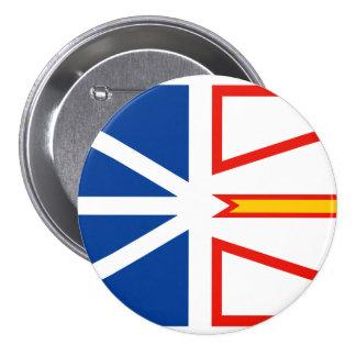 NEW FOUNDLAND Flag 3 Inch Round Button