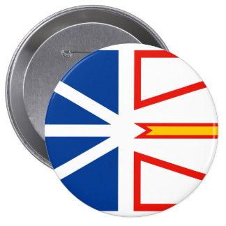 NEW FOUNDLAND Flag 4 Inch Round Button