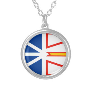 NEW FOUNDLAND Flag Silver Plated Necklace