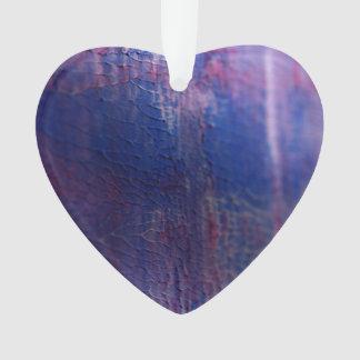 New fresh Winter acrylic Heart / Purple