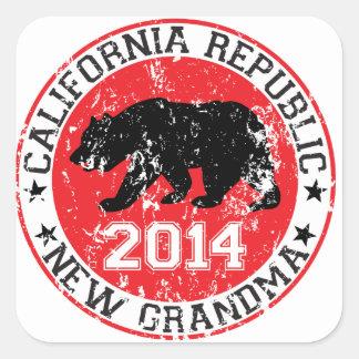 New Grandma 2014 Square Sticker