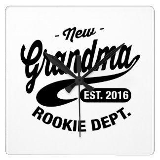 New Grandma 2016 Square Wall Clock