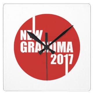 New Grandma 2017 Square Wall Clock