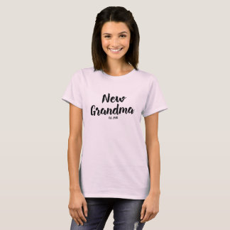 New Grandma Est. 2018, Future Grandmother Gift Tee