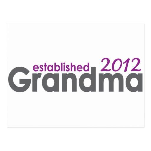 New Grandma Established 2012 Post Card