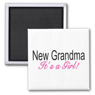 New Grandma Its A Girl Magnet