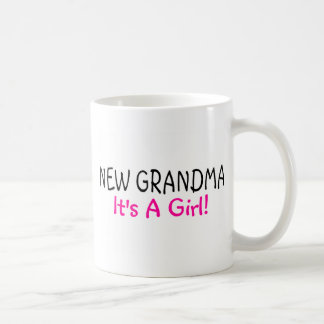 New Grandma Its A Girl Pink Coffee Mug