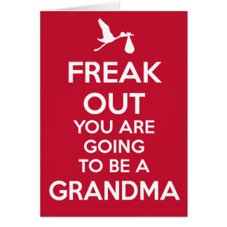 New Grandma to Be Pregnancy Announcement Card
