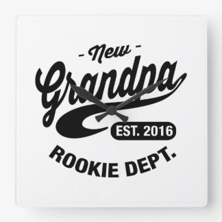 New Grandpa 2016 Square Wall Clock