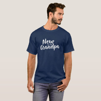New Grandpa Est. 2018, Future Grandfather Gift Tee