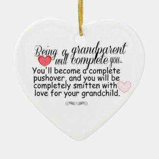 New Grandparents Ceramic Ornament