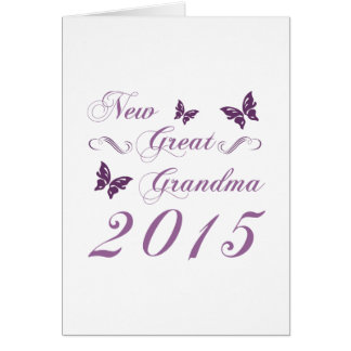 New Great Grandma 2015 Card