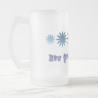 New Great Grandpa Frosted Glass Beer Mug