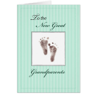New Great Grandparents of Baby, Neutral Footprint Card