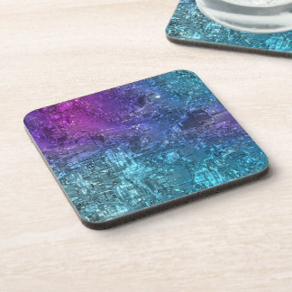 New Green Glass-effect Cork-backed Eco Coasters