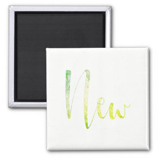 """New"" Greenly White Blogger Writer Editorial Plan Square Magnet"