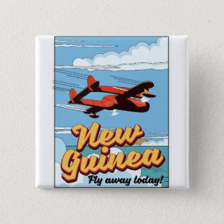 New Guinea adventure poster. 2 Inch Square Button