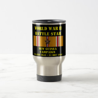 New Guinea Campaign 15 Oz Stainless Steel Travel Mug