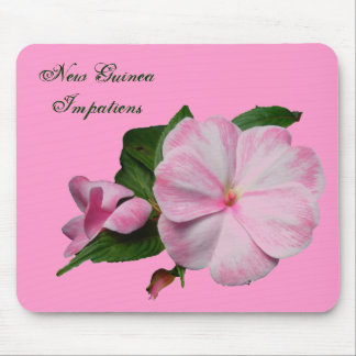 New Guinea Impatiens Pink White Mousepad