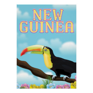 New Guinea Toucan travel poster