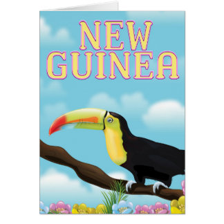 New Guinea Toucan travel poster Card