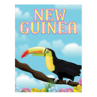 New Guinea Toucan travel poster Postcard