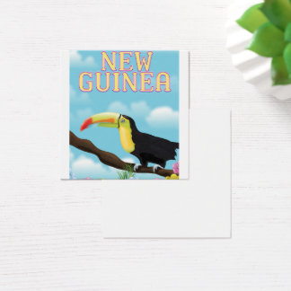 New Guinea Toucan travel poster Square Business Card