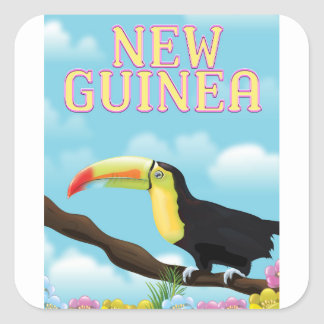 New Guinea Toucan travel poster Square Sticker