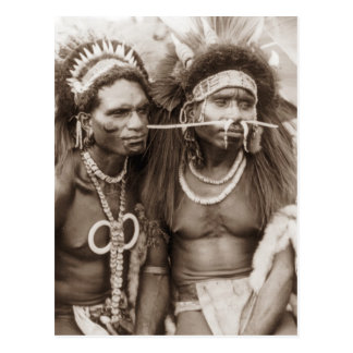New Guinea Warriors, c1919 Postcard