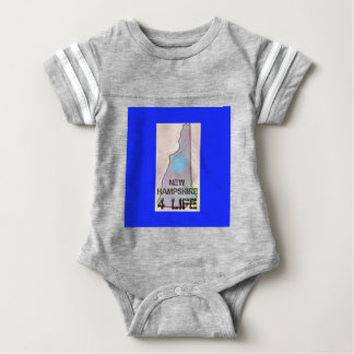 """""""New Hampshire 4 Life"""" State Map Pride Design Baby Bodysuit"""
