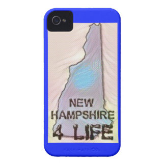 """New Hampshire 4 Life"" State Map Pride Design Case-Mate iPhone 4 Case"