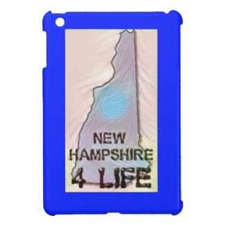 """New Hampshire 4 Life"" State Map Pride Design iPad Mini Cases"