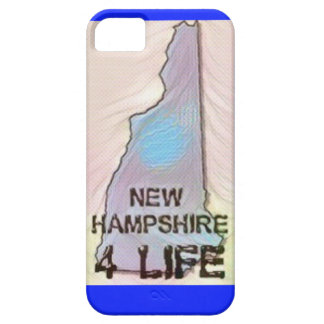 """New Hampshire 4 Life"" State Map Pride Design iPhone 5 Case"