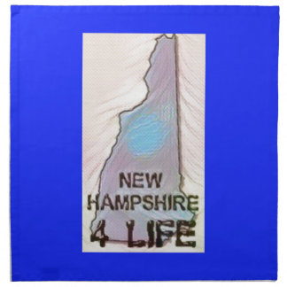"""New Hampshire 4 Life"" State Map Pride Design Napkin"