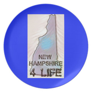 """New Hampshire 4 Life"" State Map Pride Design Plate"