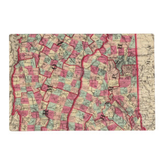 New Hampshire and Vermont 2 Laminated Place Mat